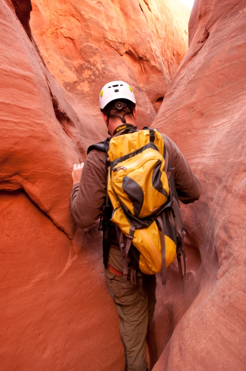 Eric Crosby at Blarney Canyon, North Wash, southern Utah. Photo by Ron Dungan