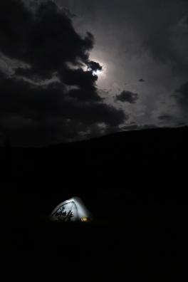 A moonlit night.